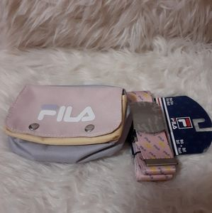 Fila belt and pouch